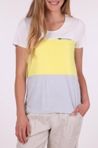 Colour Blocked Zip Tee