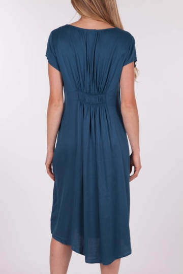 marco polo clothing cap sleeve gathered dress womens knee length dresses birdsnest online. Black Bedroom Furniture Sets. Home Design Ideas