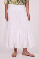 Stretch Waist Godet Skirt