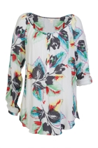 Tropical L/S Blouse