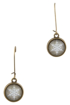 Snowflake Long Drop Earrings