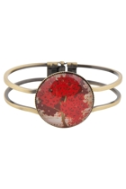 Red Tree Cuff Bangle