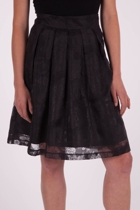 Lara Organza Pleated Skirt