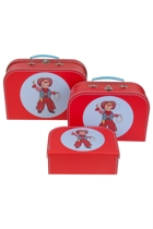 Cowboy Carry Case Set 3pcs