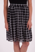 Checked Print Skirt