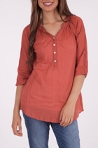 3/4 Sleeve Kurta Plain Top