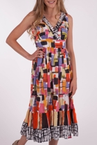 Orientique Alameda Spanish Cross Front Dress