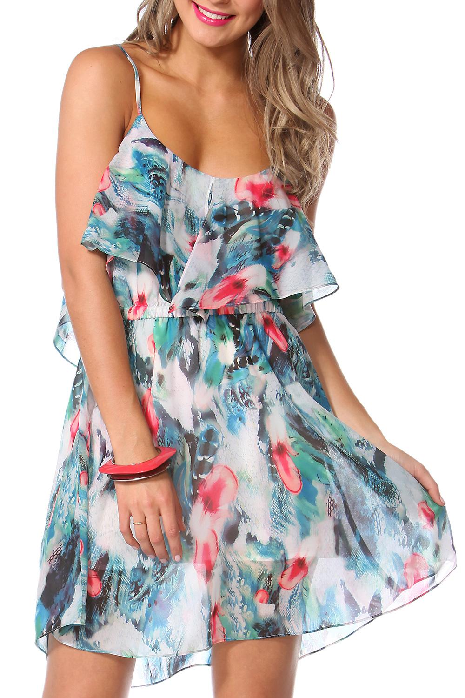 Sass Flamingo Feather Dress