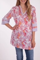 Marrakesh Print Beaded Kaftan