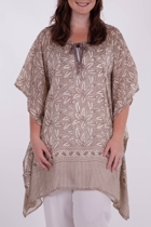 Boubou Silk Flower Print Tunic
