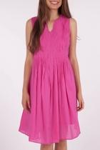 Yarra Trail S/Less Pintuck Dress