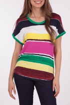 Yarra Trail Painted Stripe Tee