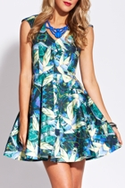 Mirrored Paradise Skater Dress
