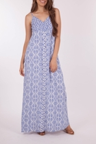 Border Paisley Strap Maxi Dress