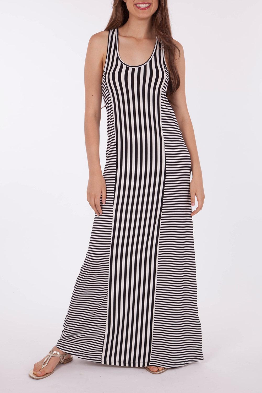 Mink Pink Thug Life Stripe Maxi Dress