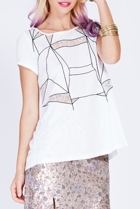 Geo Embroidery Tee