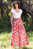 ROSIE Maxi Skirt Pebble Stone