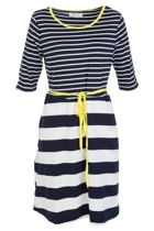 Polly Stripe 3/4 Slv Dress