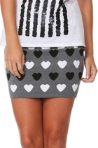Sass Heart Knit Mini Skirt