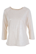 City Hopper Metallic Raglan Top