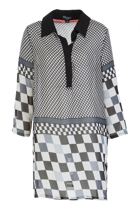 Georgette Checker Tunic