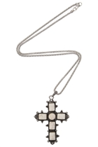 Eastern Stone Cross Pendant Necklace