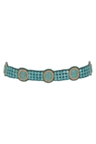 Ovals & Beads Embellished Hip Belt