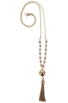 Fine Polished Ball & Tassle Pendant Long