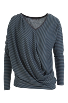 Ally Striped Gather Top