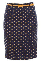 Dot To Dot Skirt W Belt