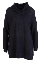 Wave Rib Front Cowl Neck Pull Over