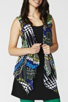 Peacock Printed Vest & Top