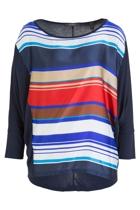 Cool Stripe 3/4 Slv Tee
