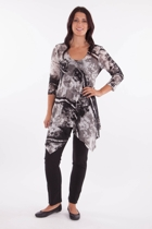 Shadow Print Mesh Tunic