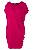 Plaza S/S Drape Dress