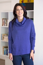 Drop Shoulder Cowl Neck Pull Over