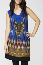 Threadz Diamond Print Dress