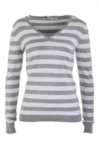 Essential Stripe V Neck Sweater