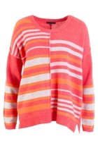 Asymmetric Multi Stripe Sweater