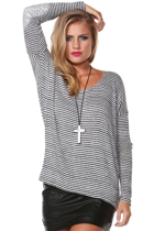 Outsider Slouch Stripe Top