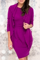 Sacre Coeur 3/4 Slv Wool Blend Dress