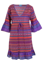 Tyra Cotton Aztec Dress