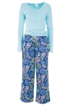Stencil Flower PJ Set