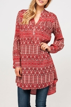 Karo Lattice Shirt Tunic