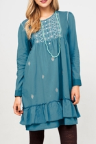 Eva Cotton Embroidered Dress