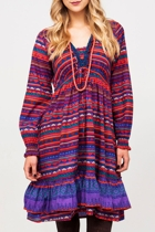 Annabel Cotton Aztec Dress