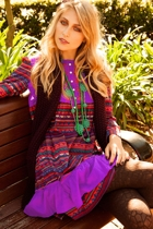 Allanah Cotton Aztec Dress