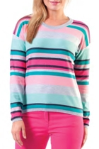 Yarra Trail Multi Stripe L/S Knit