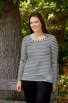 Nautical Crew Neck Stripe Top