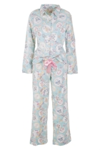 Vintage Buttons Long PJ Set